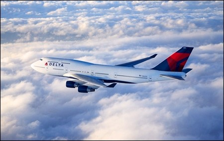 Delta 747s operate final charter flights.